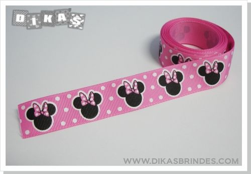 Fita Decorativa Minnie Rosa