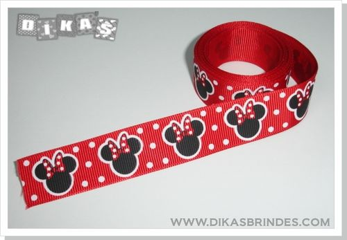 Fita Decorativa Minnie Vermelha