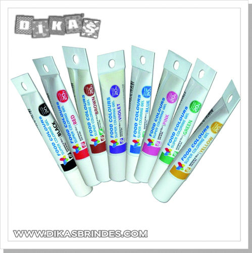 Corante Gel em tubo  -  Food Colours